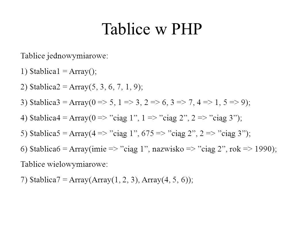 Funkcja phpinfo() Za pomocą funkcji phpinfo() możemy wyświetlić mnóstwo informacji o naszym serwerze, na którym znajduje się strona, takich jak zainstalowana wersja PHP, wsparcie dla IPv6, czy też inne opcje, które w innym wypadku musielibyśmy wyłuskiwać stosując zmienne środowiskowe – adres IP użytkownika, przeglądarkę z której aktualnie korzysta itp.