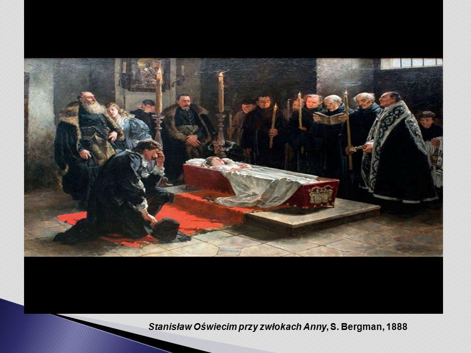 Stanisław Oświecim przy zwłokach Anny, S. Bergman, 1888