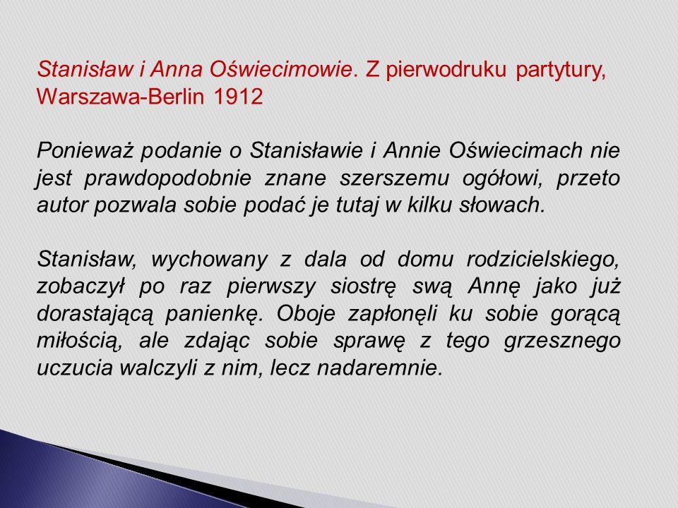 Stanisław i Anna Oświecimowie.