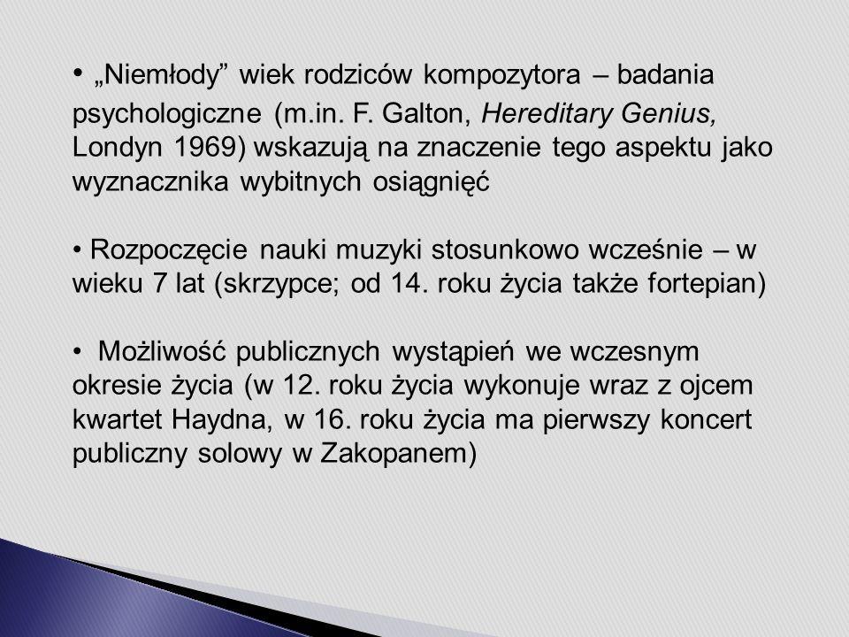 """""""Niemłody wiek rodziców kompozytora – badania psychologiczne (m.in."""