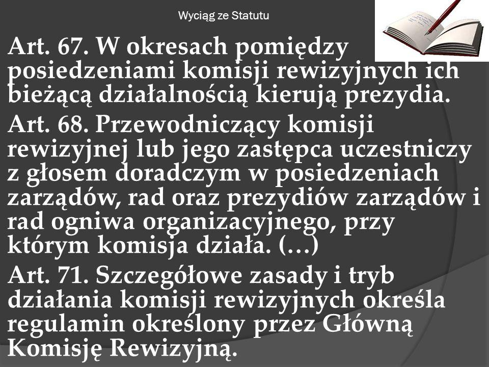 Wyciąg ze Statutu Art. 67.