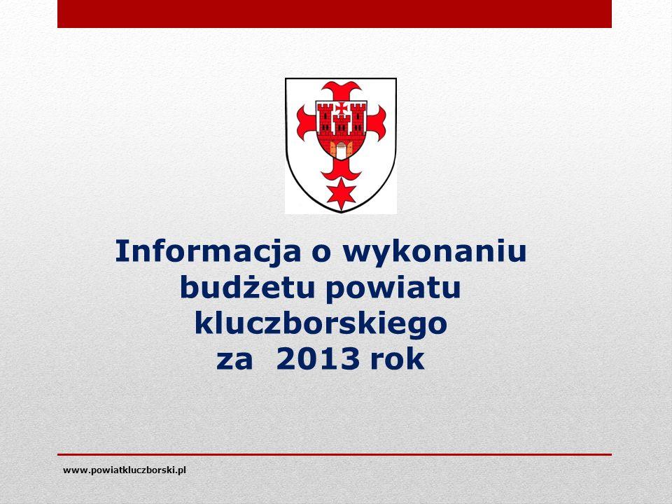 www.powiatkluczborski.pl Informacja o wykonaniu budżetu powiatu kluczborskiego za 2013 rok