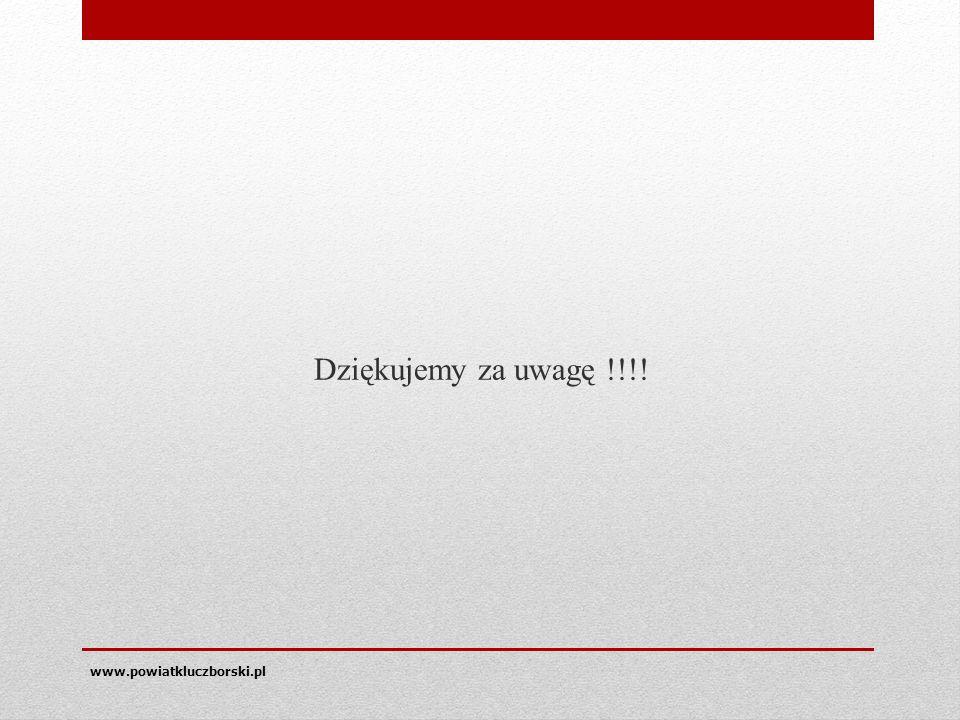 Dziękujemy za uwagę !!!! www.powiatkluczborski.pl