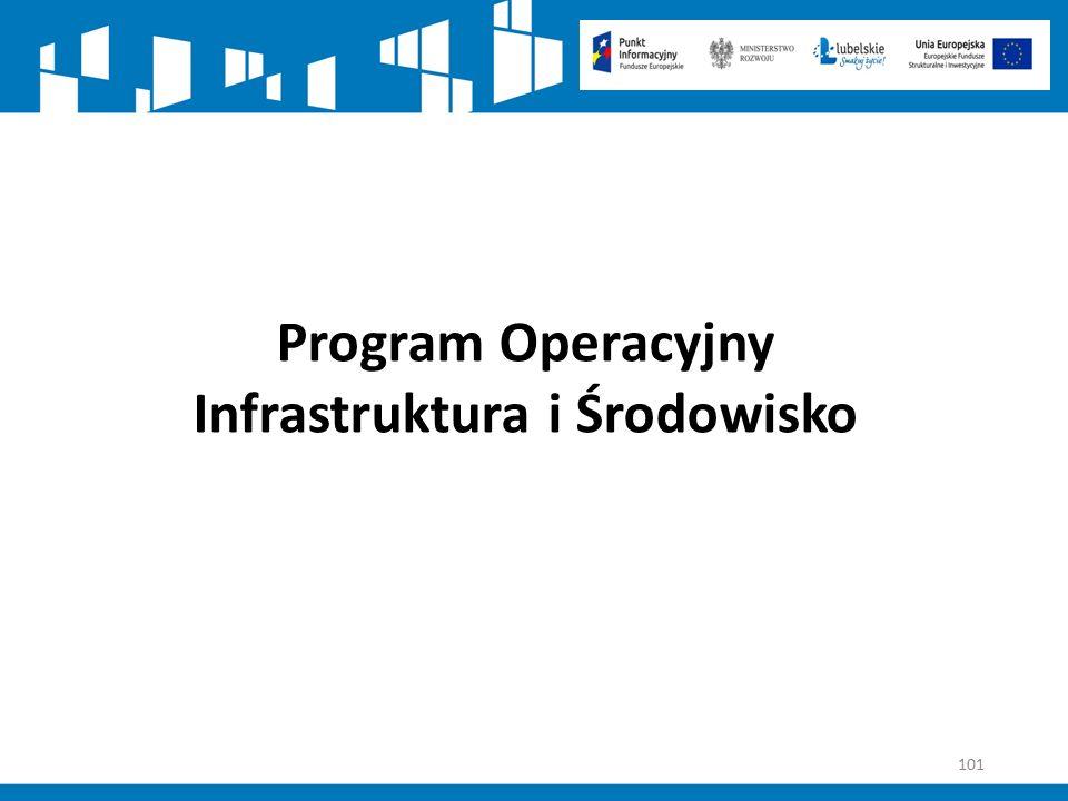101 Program Operacyjny Infrastruktura i Środowisko