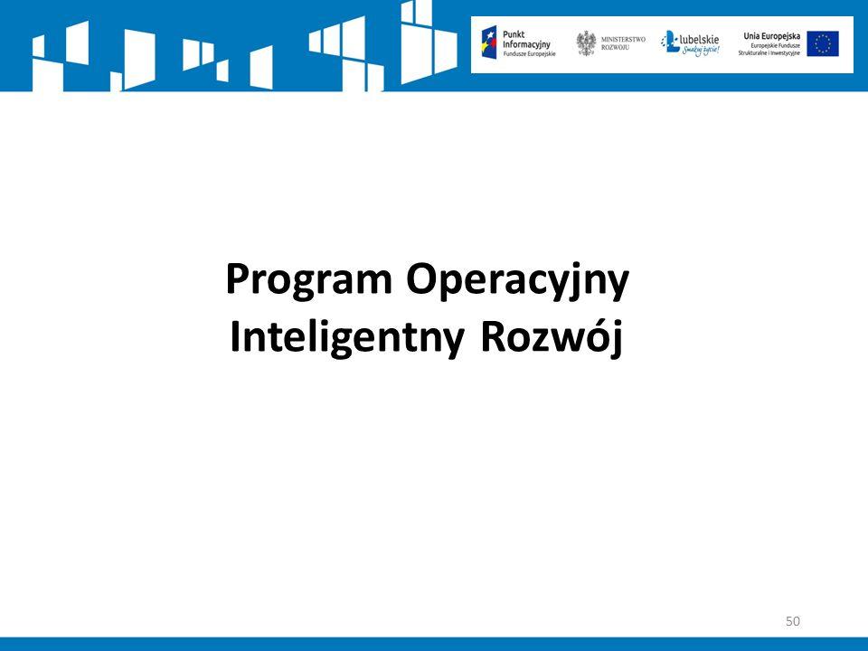50 Program Operacyjny Inteligentny Rozwój