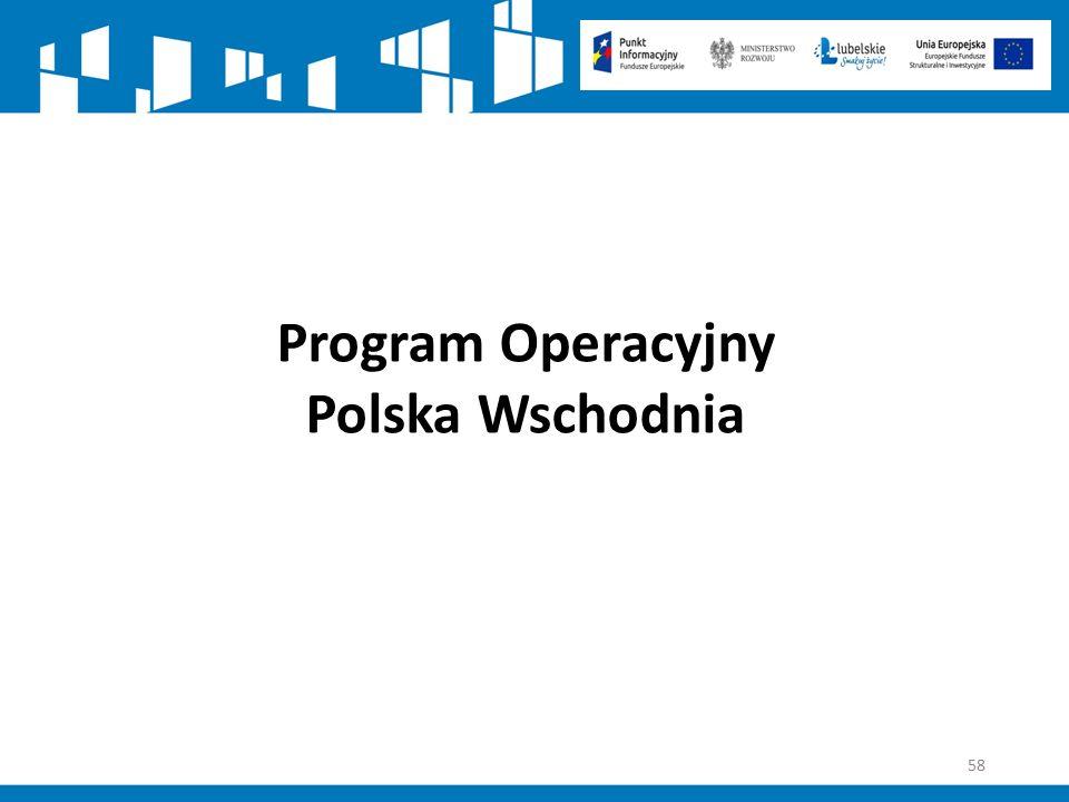 58 Program Operacyjny Polska Wschodnia
