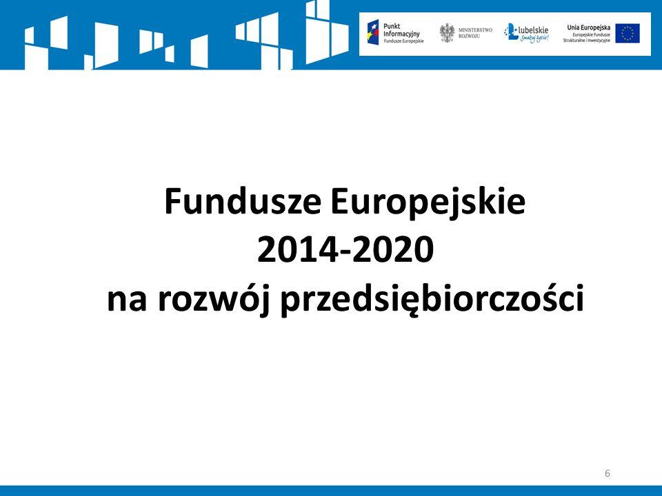77 Oś Priorytetowa I.Przedsiębiorcza Polska Wschodnia Zasady wsparcia – cd.