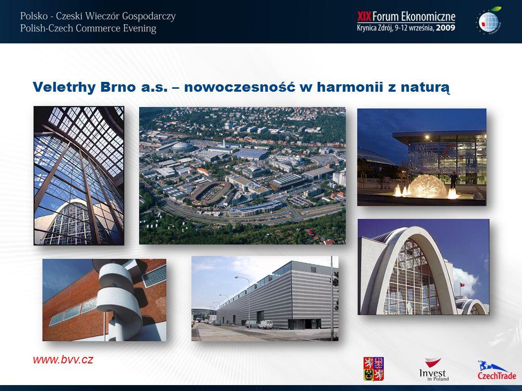 Veletrhy Brno a.s. – nowoczesność w harmonii z naturą www.bvv.cz