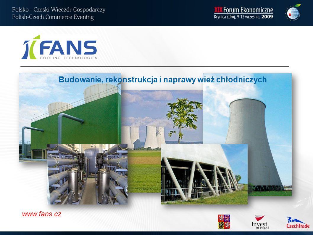 www.fans.cz Budowanie, rekonstrukcja i naprawy wież chłodniczych