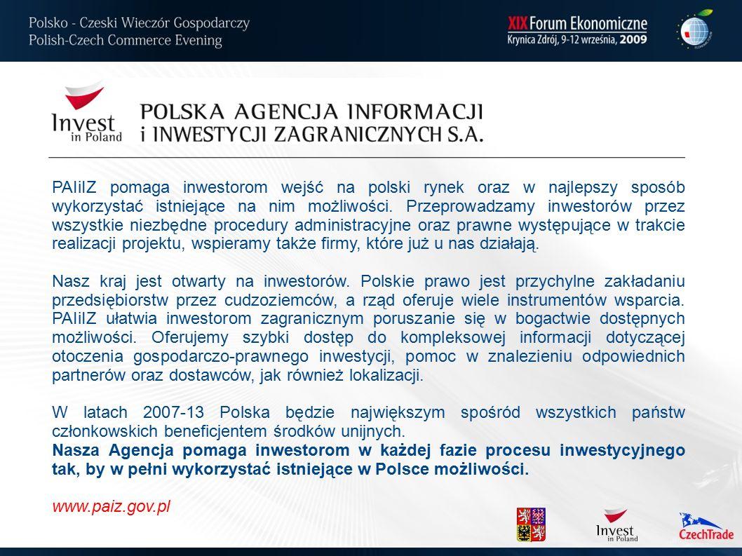 PAIiIZ pomaga inwestorom wejść na polski rynek oraz w najlepszy sposób wykorzystać istniejące na nim możliwości. Przeprowadzamy inwestorów przez wszys