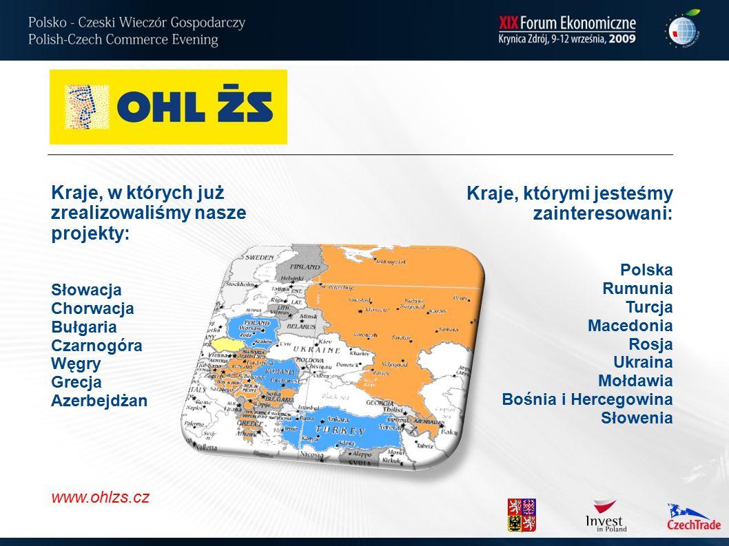 Kraje, w których już zrealizowaliśmy nasze projekty: Słowacja Chorwacja Bułgaria Czarnogóra Węgry Grecja Azerbejdżan Kraje, którymi jesteśmy zainteresowani: Polska Rumunia Turcja Macedonia Rosja Ukraina Mołdawia Bośnia i Hercegowina Słowenia