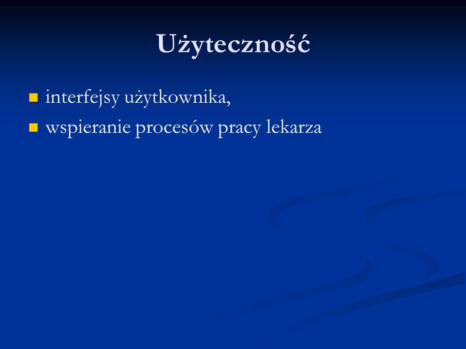 Użyteczność interfejsy użytkownika, wspieranie procesów pracy lekarza