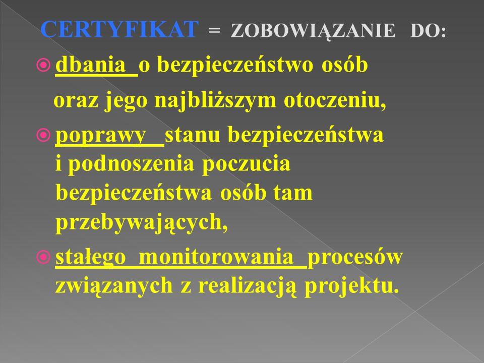 Audyt certyfikacyjny/ kontrolny przeprowadzany jest za pomocą narzędzia skonstruowanego dla całego województwa małopolskiego przez Wydział Prewencji KWP w Krakowie.