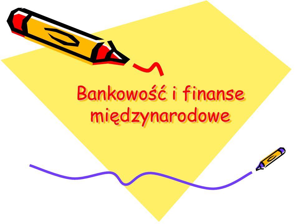 Bankowość i finanse międzynarodowe