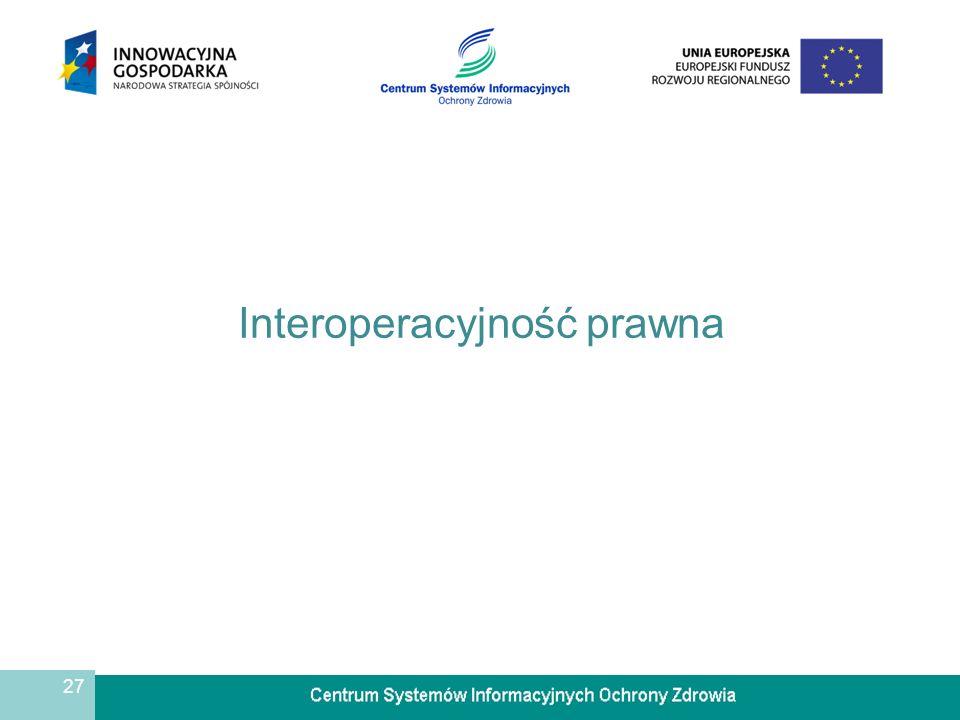 27 Interoperacyjność prawna