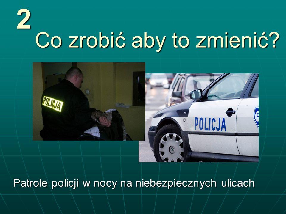 Co zrobić aby to zmienić? Patrole policji w nocy na niebezpiecznych ulicach 2