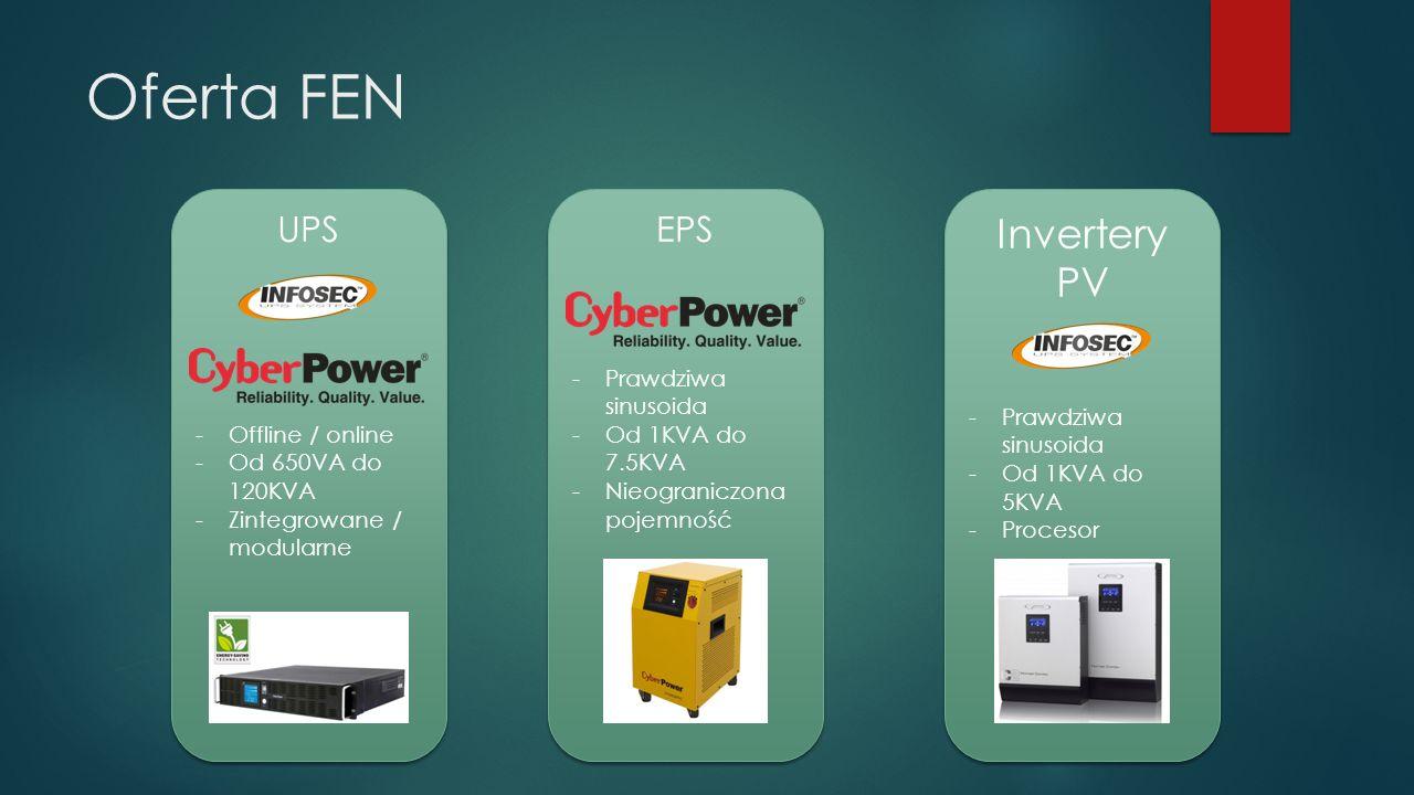 Oferta FEN UPS -Offline / online -Od 650VA do 120KVA -Zintegrowane / modularne UPS -Offline / online -Od 650VA do 120KVA -Zintegrowane / modularne EPS