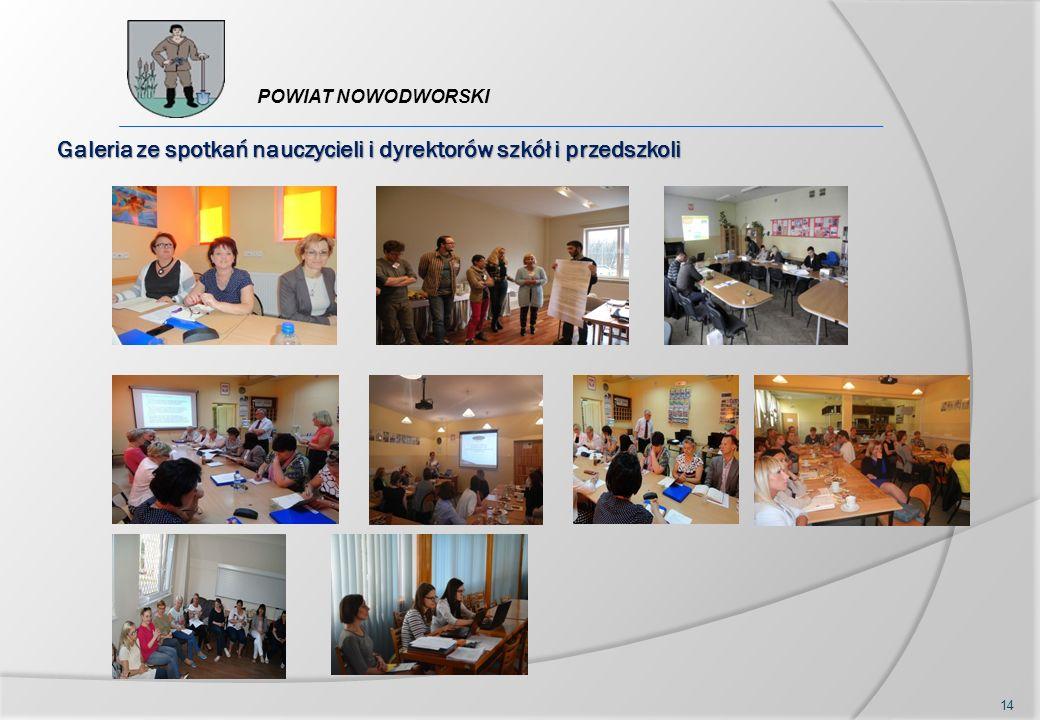 14 POWIAT NOWODWORSKI Galeria ze spotkań nauczycieli i dyrektorów szkół i przedszkoli
