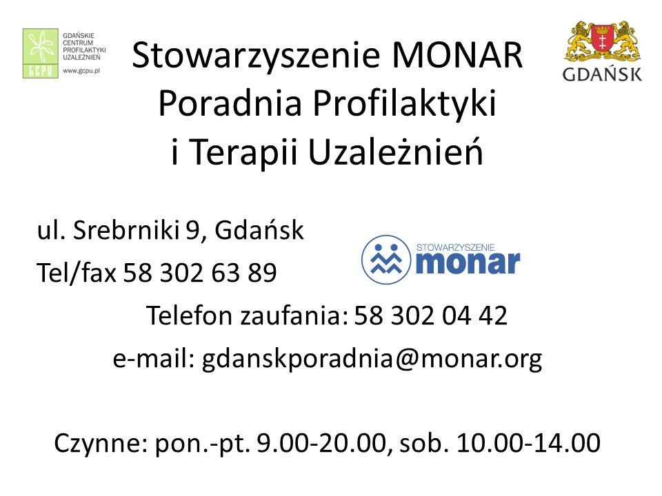 Stowarzyszenie MONAR Poradnia Profilaktyki i Terapii Uzależnień ul.
