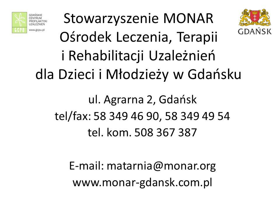 Stowarzyszenie MONAR Ośrodek Leczenia, Terapii i Rehabilitacji Uzależnień dla Dzieci i Młodzieży w Gdańsku ul.