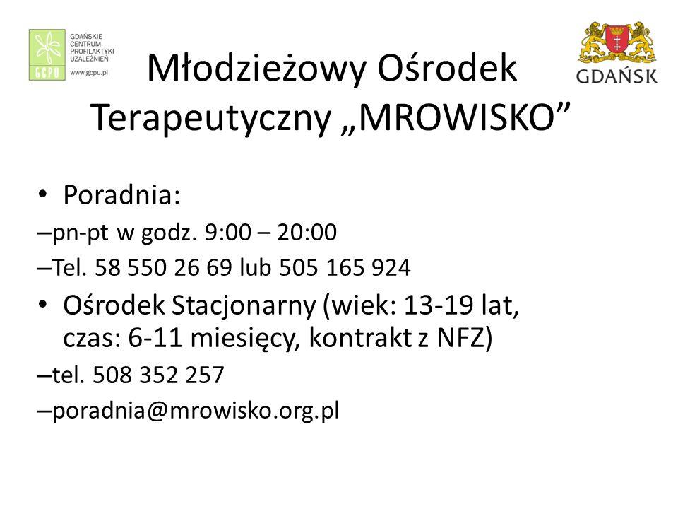 """Młodzieżowy Ośrodek Terapeutyczny """"MROWISKO Poradnia: – pn-pt w godz."""