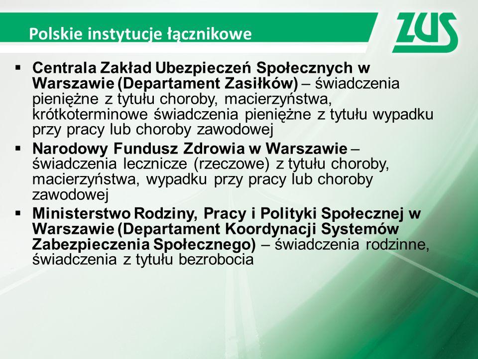 Przekazywanie zaświadczeń lekarskich  Osoba ubezpieczona w Polsce, która stanie się niezdolna do pracy w czasie pobytu w Irlandii, powinna przekazać zaświadczenie lekarskie wystawione przez lekarza leczącego w Irlandii (MC1, MC2) bezpośrednio do polskiej instytucji właściwej (ZUS lub pracodawca).