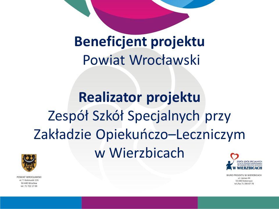 Beneficjent projektu Powiat Wrocławski Realizator projektu Zespół Szkół Specjalnych przy Zakładzie Opiekuńczo–Leczniczym w Wierzbicach