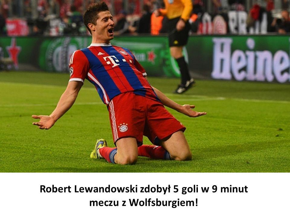 Robert Lewandowski zdobył 5 goli w 9 minut meczu z Wolfsburgiem!