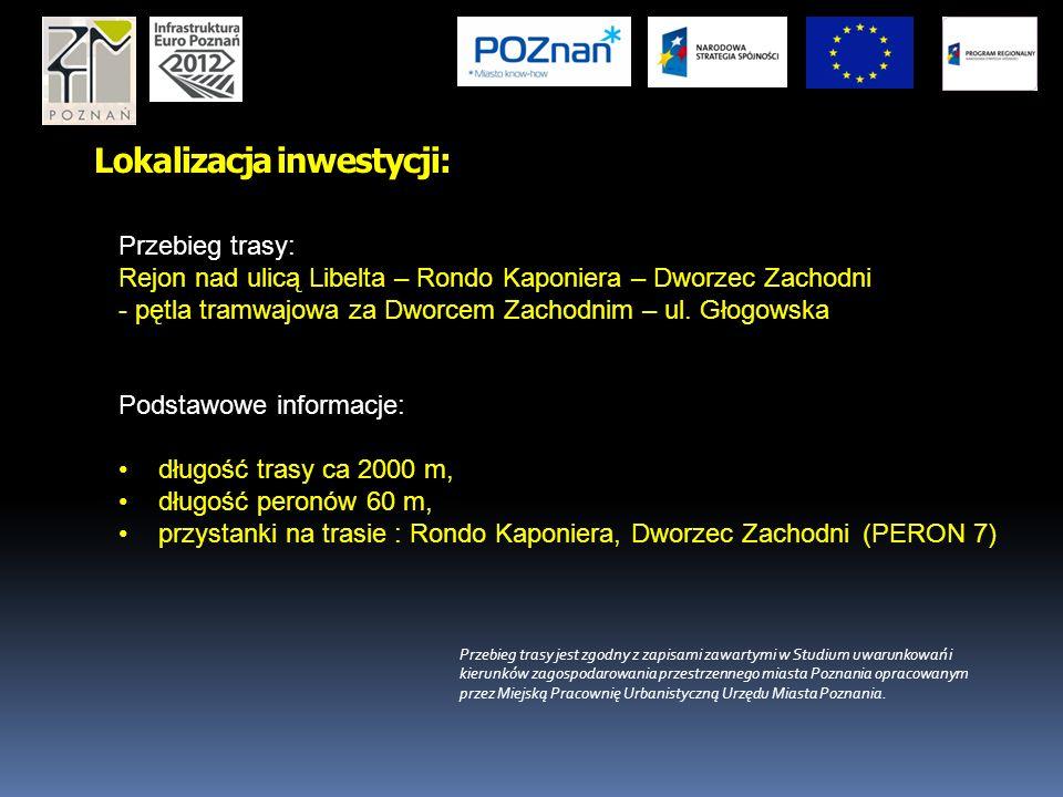 Cele projektu: Przedłużenie szybkiej - bezkolizyjnej trasy tramwajowej (PST) do Dworca Zachodniego w Poznaniu z włączeniem do istniejącego układu sieci komunikacji tramwajowej, Poprawa i rozwój funkcjonowania infrastruktury technicznej, Poprawa sprawności całego systemu komunikacji publicznej w Poznaniu, co przyczyni się do polepszenia obsługi pasażerskiej związanej między innymi z organizacja EURO 2012 w Poznaniu, Zwiększenie atrakcyjności komunikacji zbiorowej poprzez znaczące skrócenie czasu przejazdu z osiedli piątkowskich do Dworca Zachodniego w Poznaniu Zwiększenie płynności ruchu w rejonie przeciążonych obecnie węzłów tramwajowo-drogowych Most Teatralny – Kaponiera – Most Dworcowy