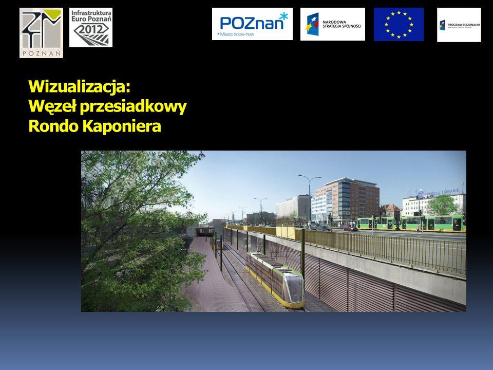 Wizualizacja: Węzeł przesiadkowy Rondo Kaponiera
