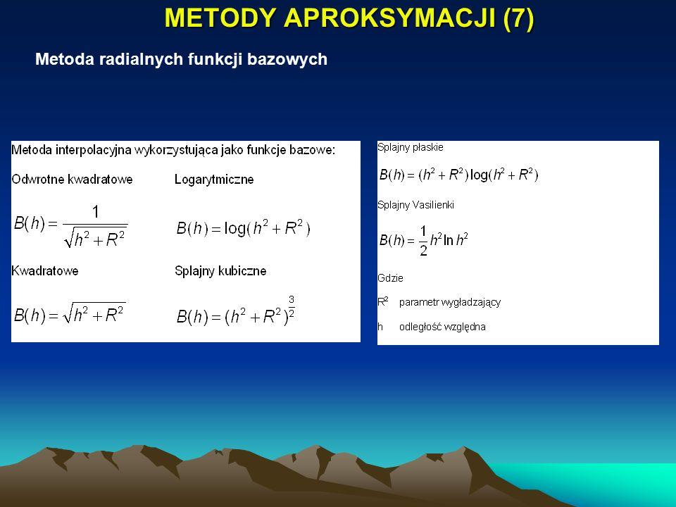 METODY APROKSYMACJI (7) Metoda radialnych funkcji bazowych