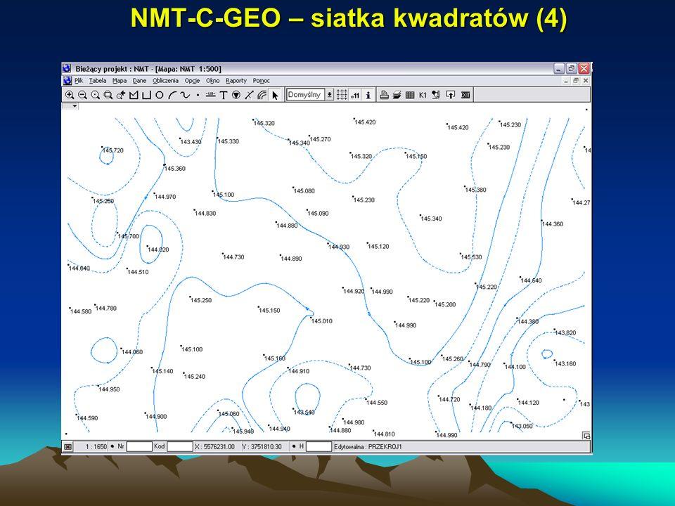 NMT-C-GEO – siatka kwadratów (4)