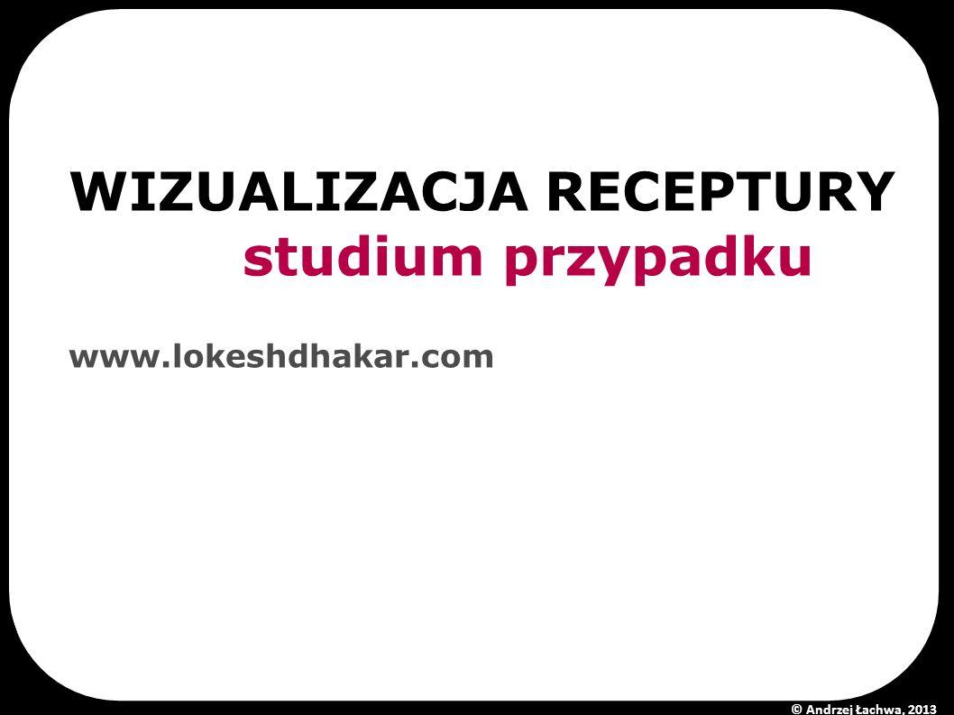 WIZUALIZACJA RECEPTURY studium przypadku www.lokeshdhakar.com © Andrzej Łachwa, 2013