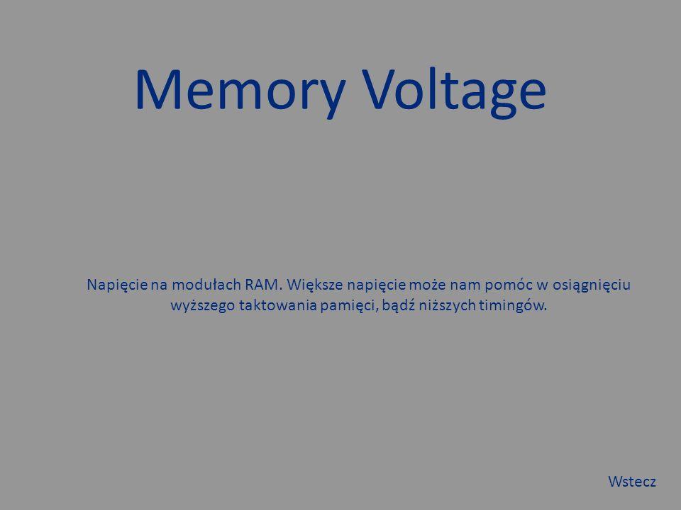Memory Voltage Napięcie na modułach RAM.