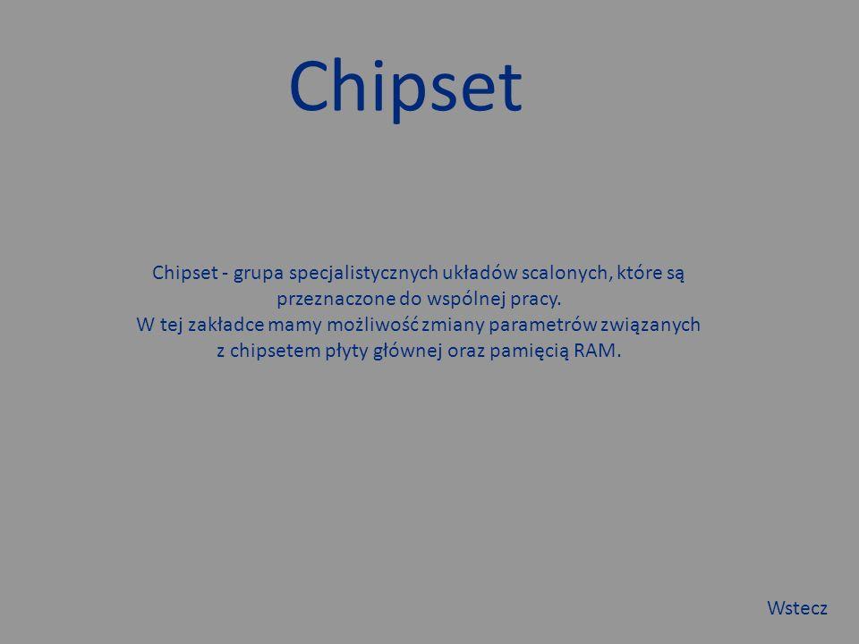 Chipset Chipset - grupa specjalistycznych układów scalonych, które są przeznaczone do wspólnej pracy.