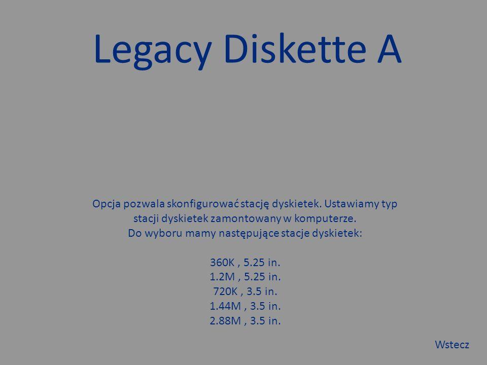 Language Opcja pozwala wybrać język BIOS. Wstecz