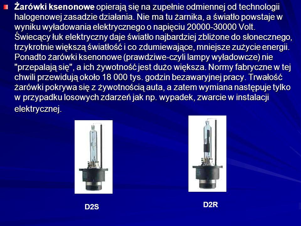 Żarówki ksenonowe opierają się na zupełnie odmiennej od technologii halogenowej zasadzie działania.
