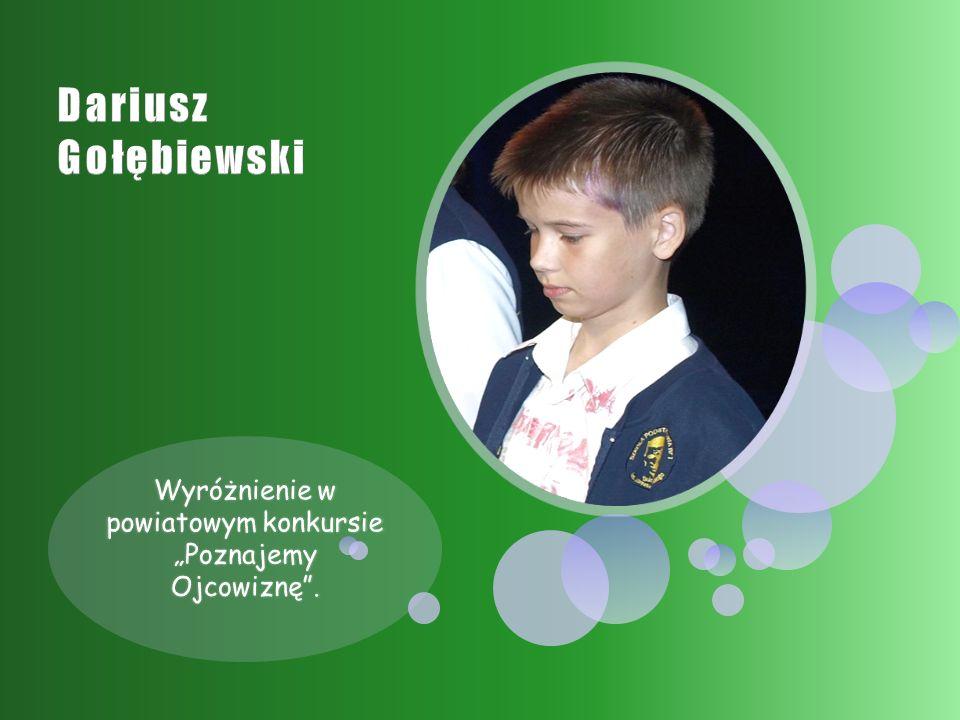 """Wyróżnienie w powiatowym konkursie """"Poznajemy Ojcowiznę ."""