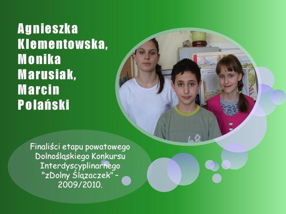 Finaliści etapu powatowego Dolnośląskiego Konkursu Interdyscyplinarnego zDolny Ślązaczek – 2009/2010.