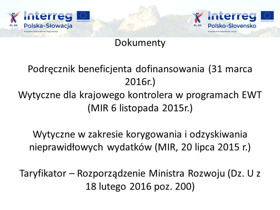 Główne zadanie kontrolerów krajowych to weryfikacja : - czy dofinansowane produkty i usługi zostały faktycznie dostarczone, - czy wydatki deklarowane przez beneficjentów zostały zapłacone, - czy są zgodne z obowiązującymi przepisami prawa UE oraz prawa krajowego, - czy są zgodne z warunkami udzielania wsparcia i dokumentami programowymi,