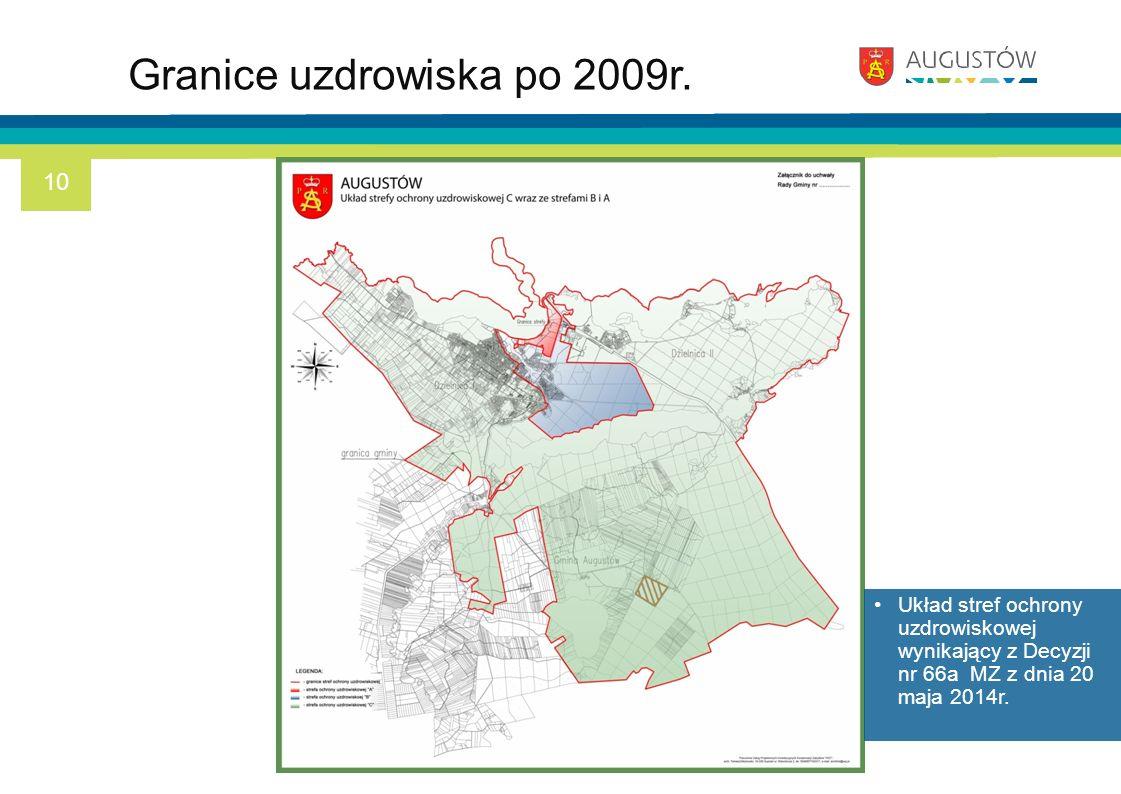 Granice uzdrowiska po 2009r. Układ stref ochrony uzdrowiskowej wynikający z Decyzji nr 66a MZ z dnia 20 maja 2014r. 10
