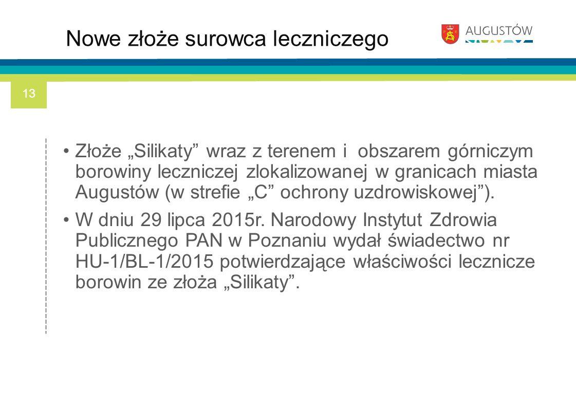 """Złoże """"Silikaty"""" wraz z terenem i obszarem górniczym borowiny leczniczej zlokalizowanej w granicach miasta Augustów (w strefie """"C"""" ochrony uzdrowiskow"""