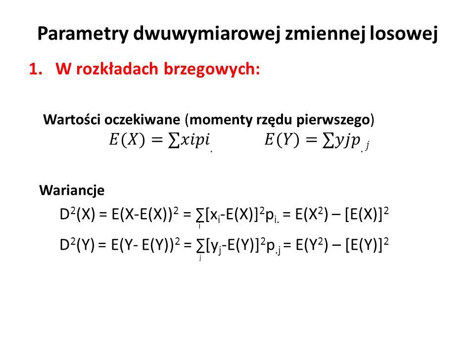 Parametry dwuwymiarowej zmiennej losowej