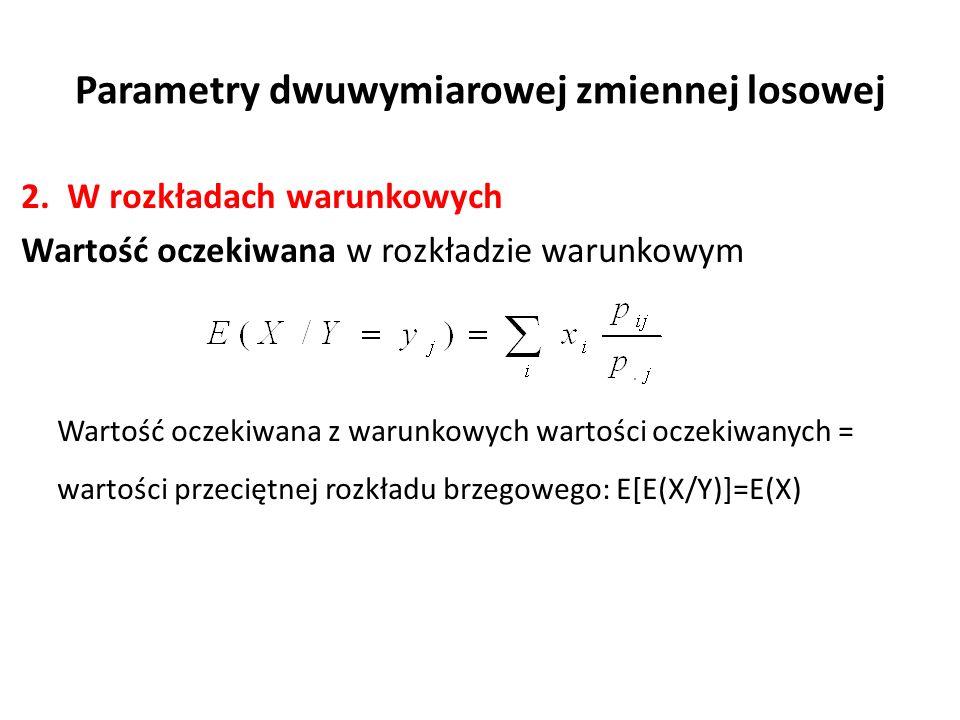Parametry dwuwymiarowej zmiennej losowej 2.