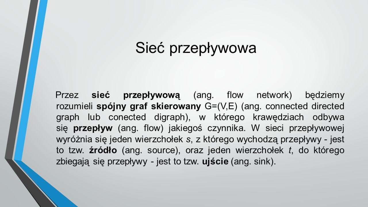 Sieć przepływowa Przez sieć przepływową (ang.