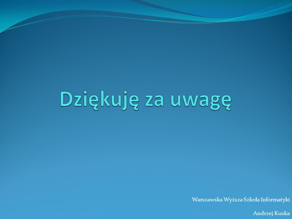 Warszawska Wyższa Szkoła Informatyki Andrzej Kuska