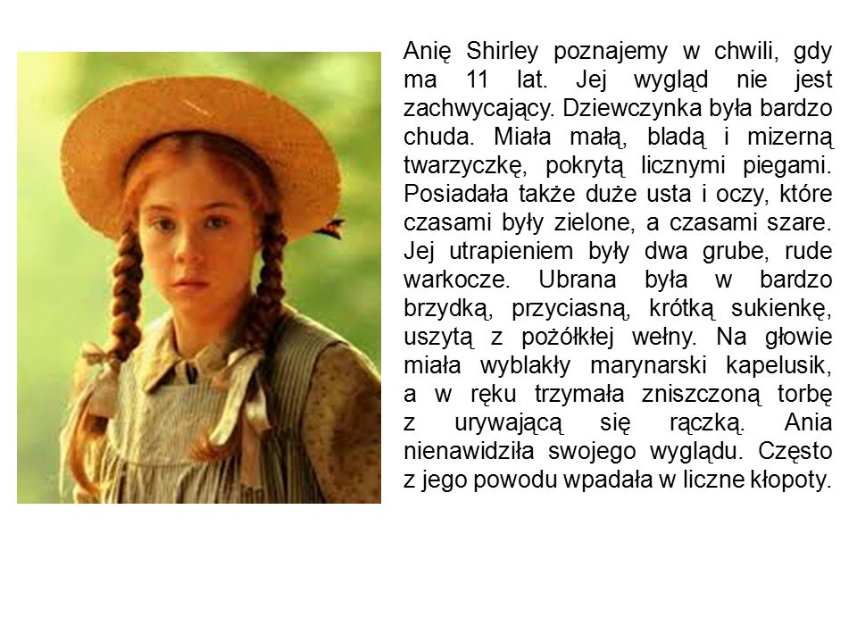 Portrety Ani Shirley w naszym wykonaniu: