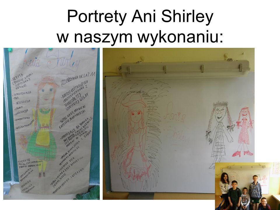 """Plakat- """"pechowe zdarzenia w życiu Ani Shirley :"""