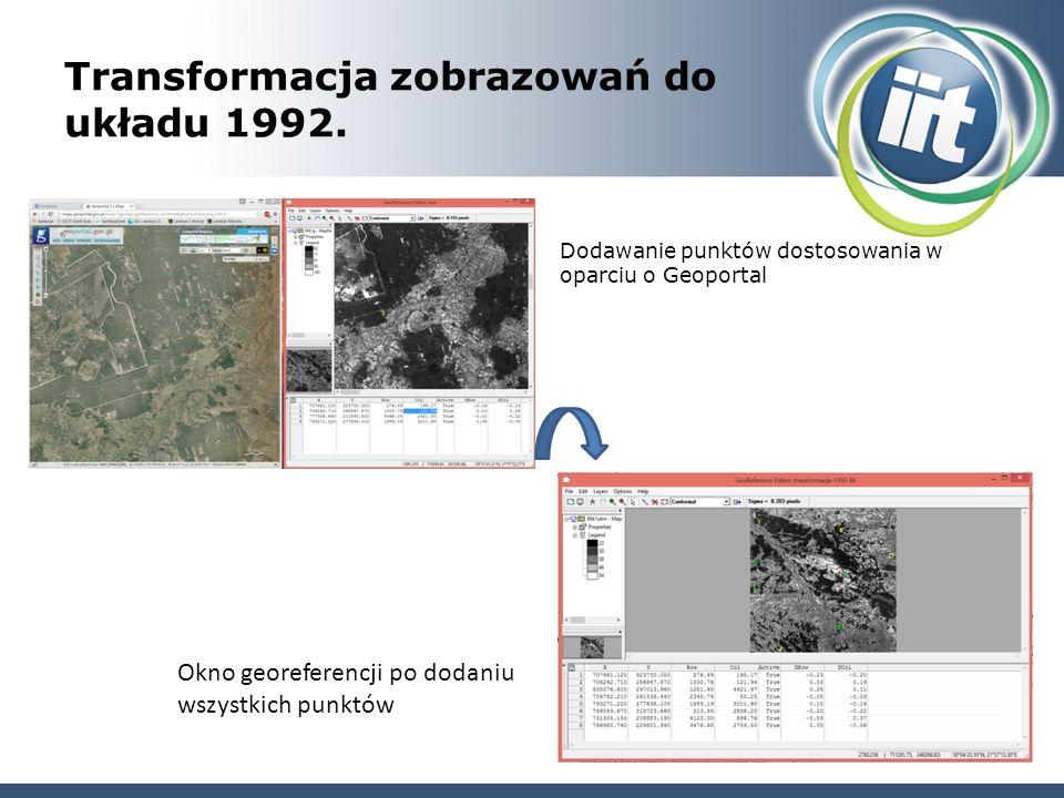 Transformacja zobrazowań do układu 1992.