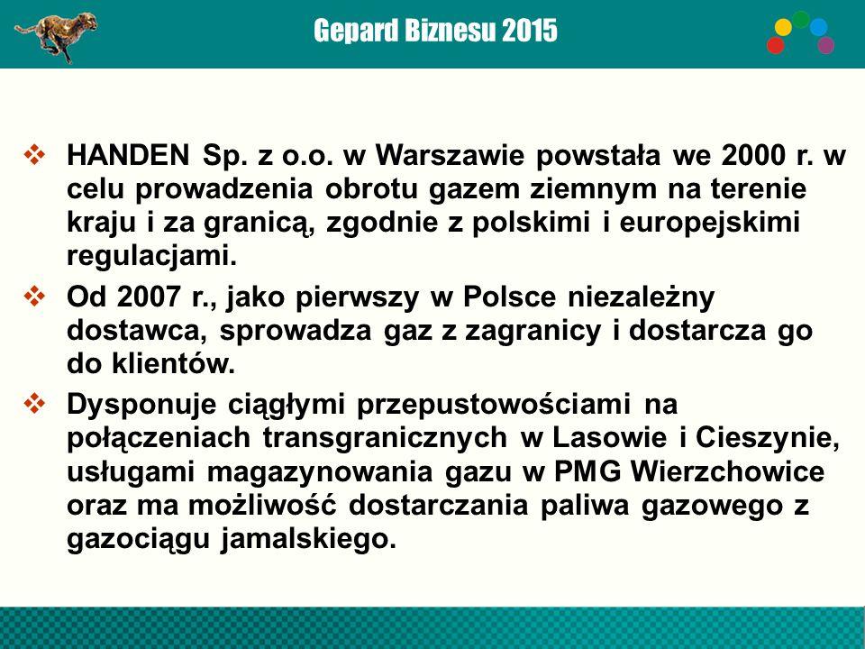  HANDEN Sp. z o.o. w Warszawie powstała we 2000 r.